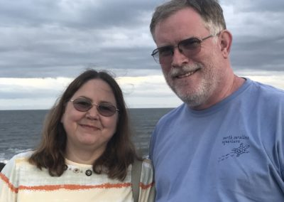 Brad and Jane celebrating 25th anniversary